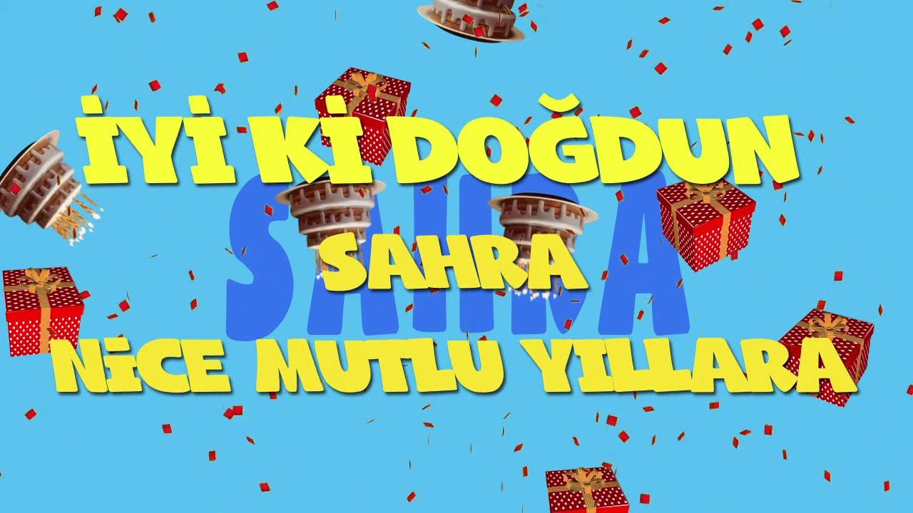 İyi ki doğdun SAHRA  - İsme Özel Ankara Havası Doğum Günü Şarkısı (FULL VERSİYON) (REKLAMSIZ)