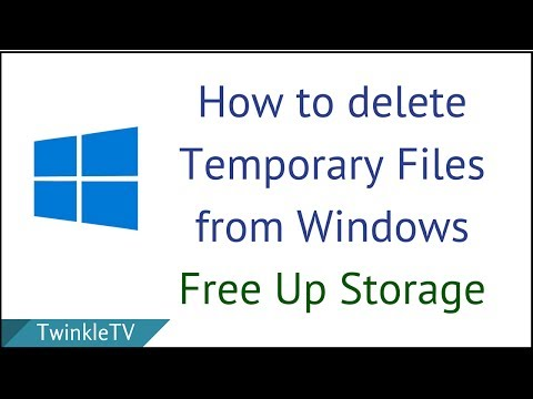 How to Delete Temporary Files from PC   Clean C Drive   Free Up Space
