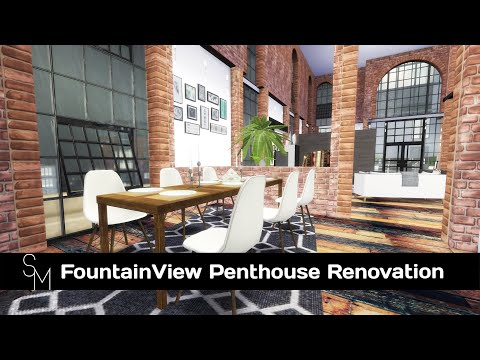 The Sims 4: Speed Build - FountainView Penthouse Part 1 [CC links]