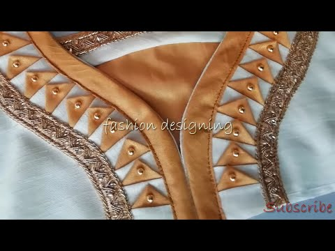 stitching of an attractive back neck design of blouse at home  | fashion designing