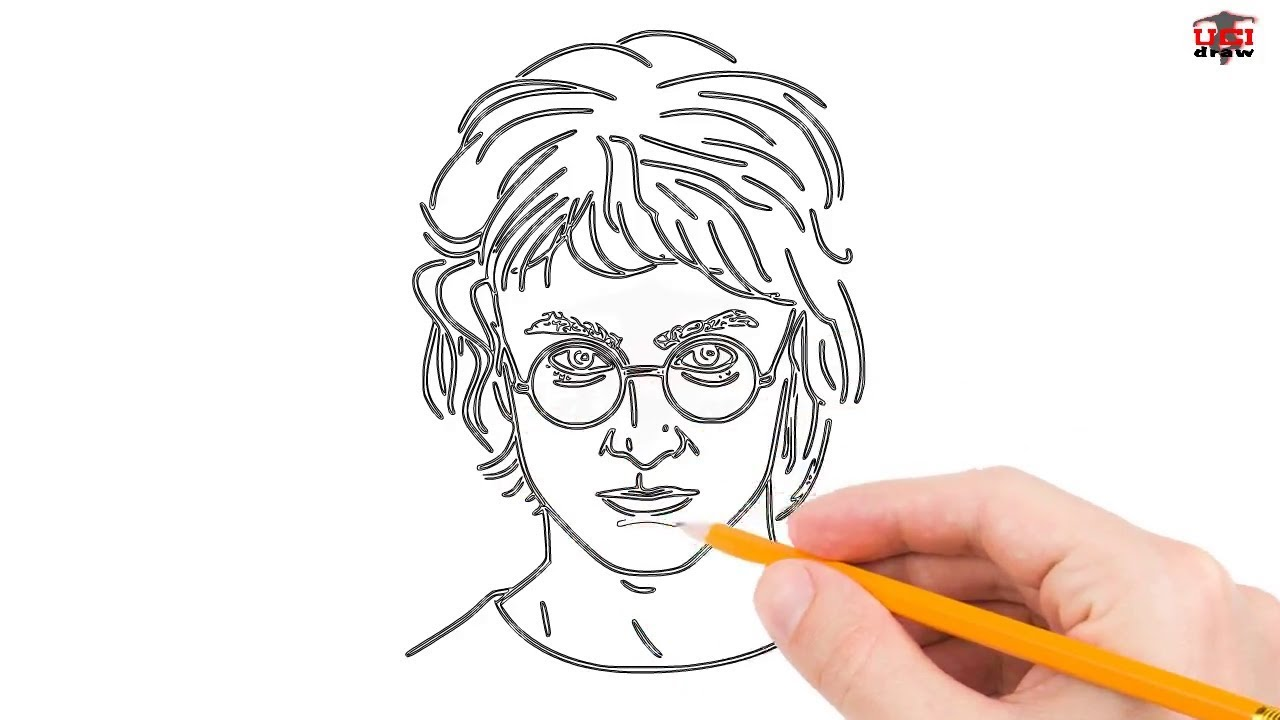 How To Draw Harry Potter Step By Step Easy For Kids Beginners
