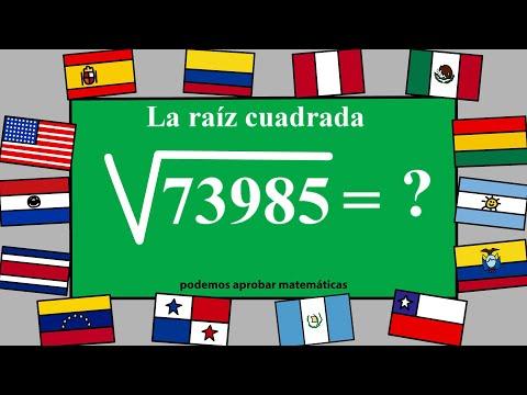 Aprender a resolver raíces cuadradas de 5 cifras o dígitos