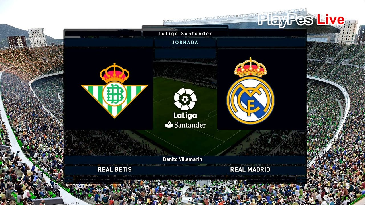PES 2020 - Real Betis vs Real Madrid - Full Match & Goals - Gameplay PC -  YouTube