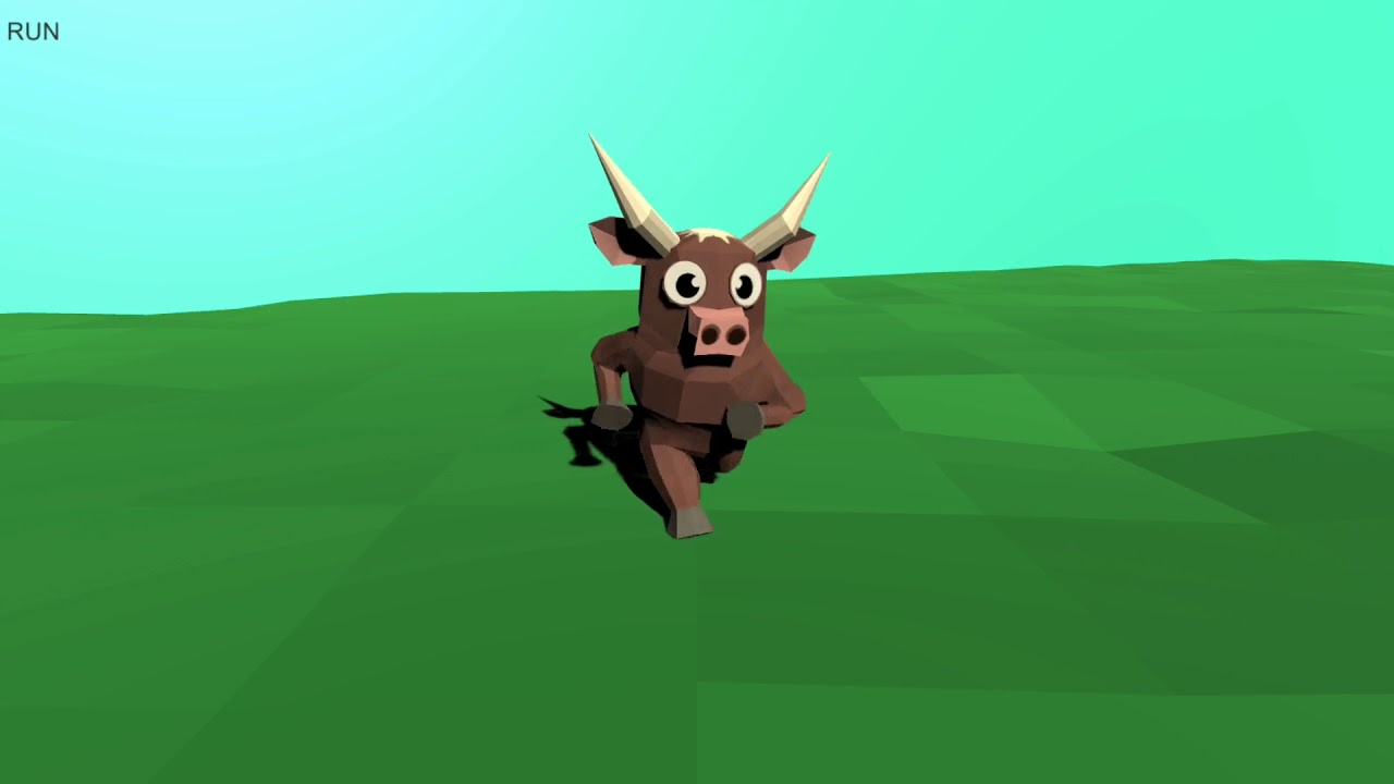 Low poly Cow - Unity asset store showcase