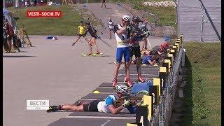 Без Шипулина: сборная России по биатлону тренируется в горах Сочи