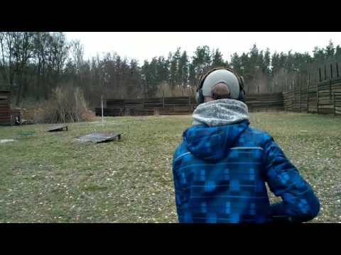 Son's shooting clay with Armsan A Challange semi auto shotgun