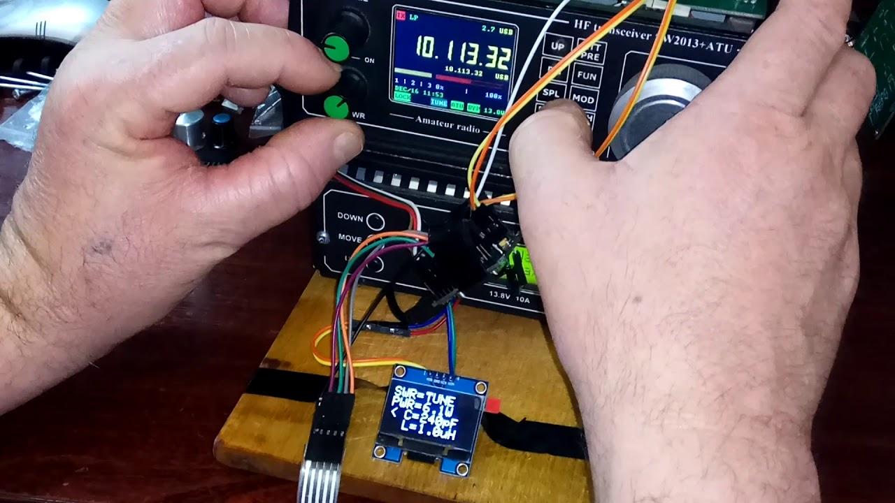 Автоматический антенный тюнер на Arduino Nano и OLED SH1106 1,3