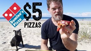 NEW DOMINO'S $5 PORK SAUSAGE PIZZAS FOOD REVIEW - Greg's Kitchen - Fast Food Friday Food Reviews