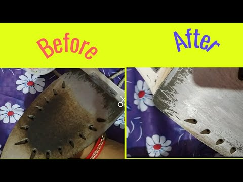 How to clean burnt iron bottom😊easy way