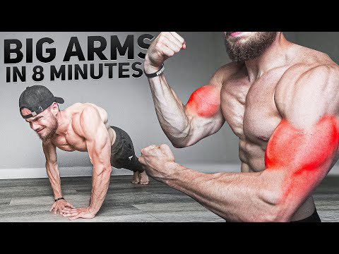 Build Big ARMS in 8 Minutes (AT HOME, NO EQUIPMENT)