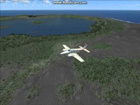 Microsoft FSX flyover of custom Niuafo'ou island scenery, Tonga, South Pacific