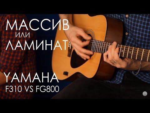 Сравнение гитары из Массива и Ламината | YAMAHA F310 VS FG800