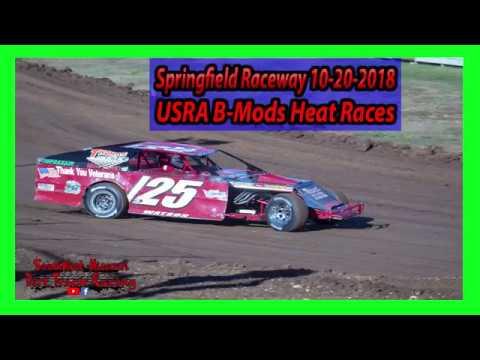 USRA B-Mods Heat Races - Lil Buck 31 - Springfield Raceway 10/20/2018