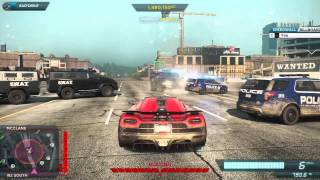 Need For Speed Most Wanted 2012 Police Maximum Heat Get Away Koenigsegg Agera