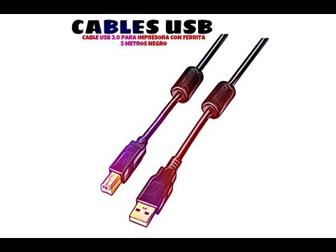Video de Cable USB 2.0 para impresora con ferrita 5 M Negro