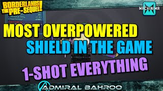 Borderlands Pre-Sequel: The Shooting Star, Most Overpowered Shield in The Game! 1 Shot Everything