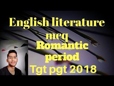 Romantic period English Literature MCQ  dsssb tgt pgt 2018 Mp3