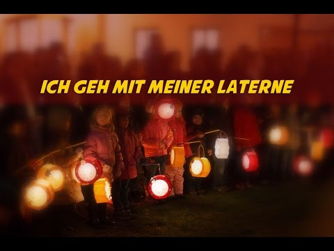Ich geh mit meiner Laterne (instrumental - lyrics video for karaoke)(Kinderlieder)