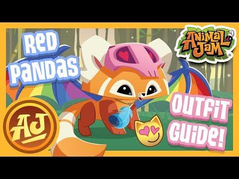 Animal Outfit Guide   Stylish Red Pandas!   Animal Jam