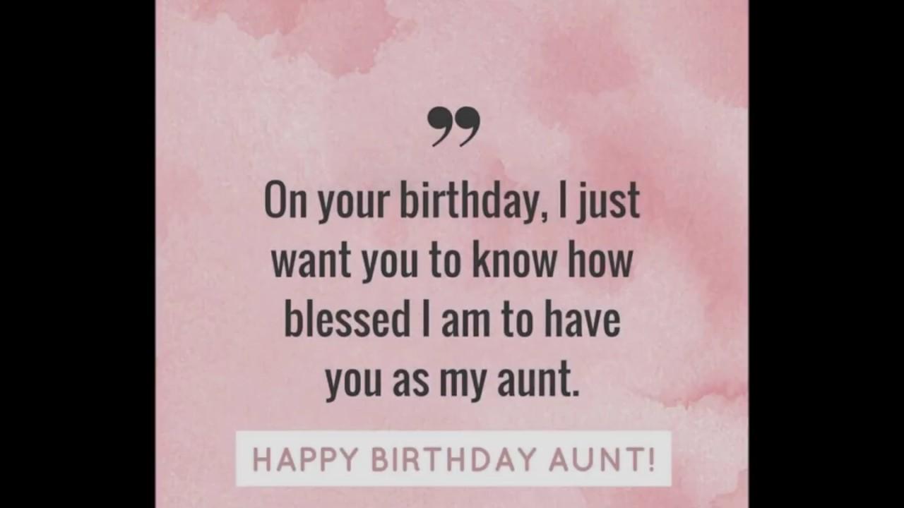 Happy Birthday Aunt Youtube
