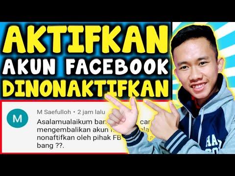 Cara mengaktifkan akun facebook yg terkena blokir atau dinonaktifkan!!.