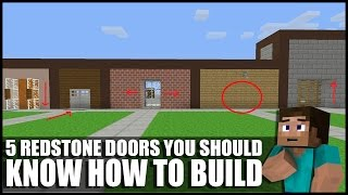 5 Redstone Doors You Should Know How To Build In Minecraft!
