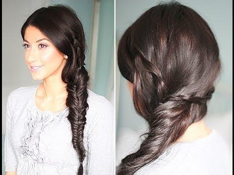 Cute, Spring Fishtail Braid Hairstyle
