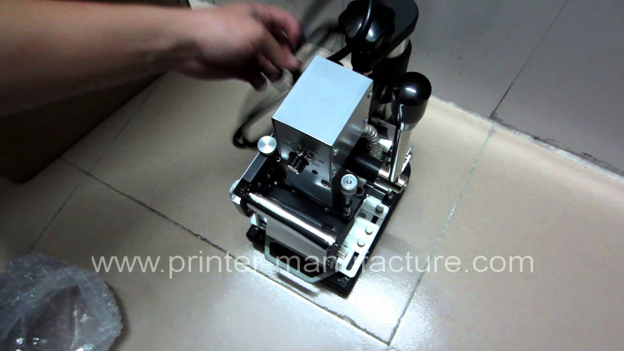 Embossing Youtube Machine Cards - For Hot Stamping Manual