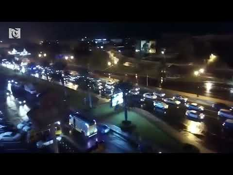 Rain and traffic jam at Sultan Qaboos Street, Al Khuwair