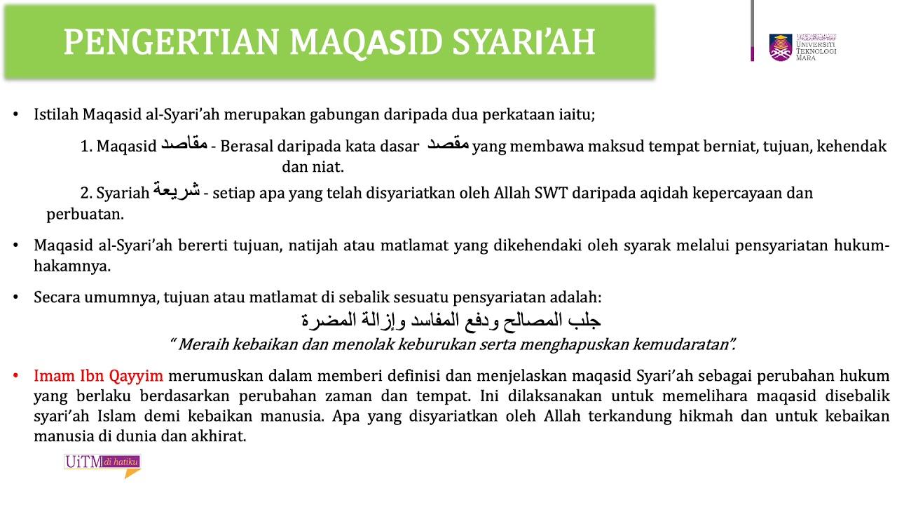Apa Itu Maqasid Syariah  Ia merupakan salah satu dalil yang tidak disepakati.   zondaime