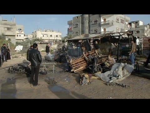 Israeli strike 'kills Palestinian boy' in new Gaza assault