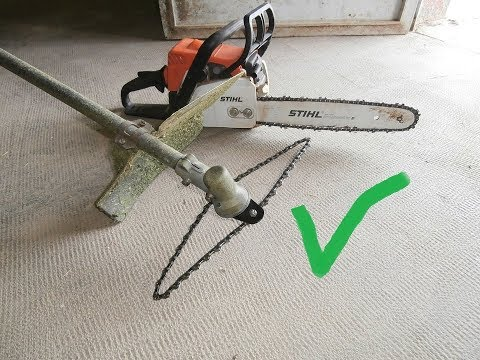 Homemade chainsaw chain for TRIMMER.( safe way )