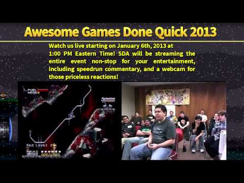 2013 Awesome Games Done Quick Youtube
