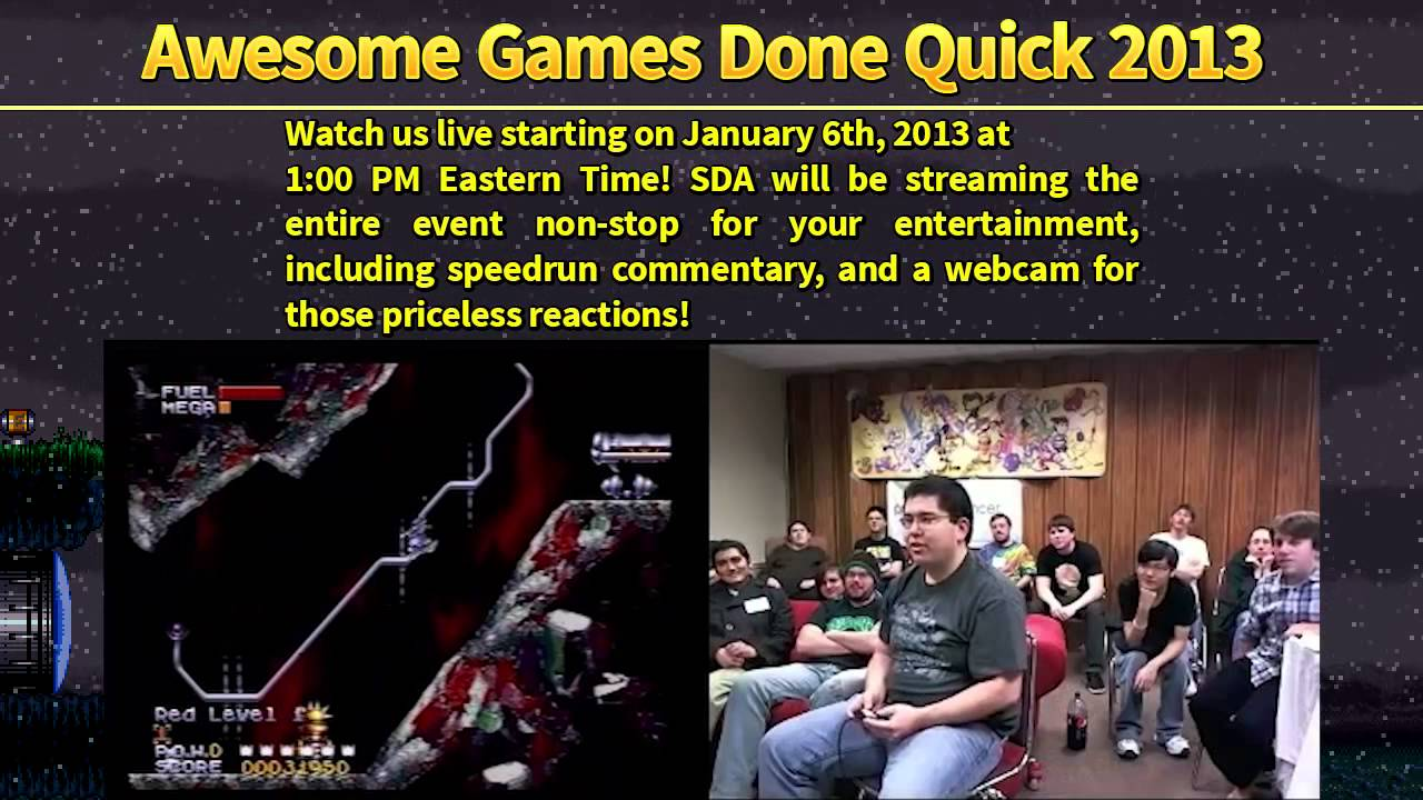 Awesome Games Done Quick 2013 Promo Video An Sda Charity
