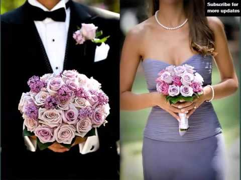 Picture Combination Of Beautiful Flowers | Purple And White Carnation Bouquet