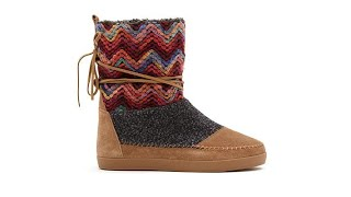 TOMS Nepal Suede Mixed Media PullOn Boot