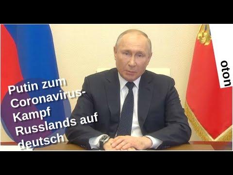 Putin zum Coronavirus-Kampf Russlands auf deutsch