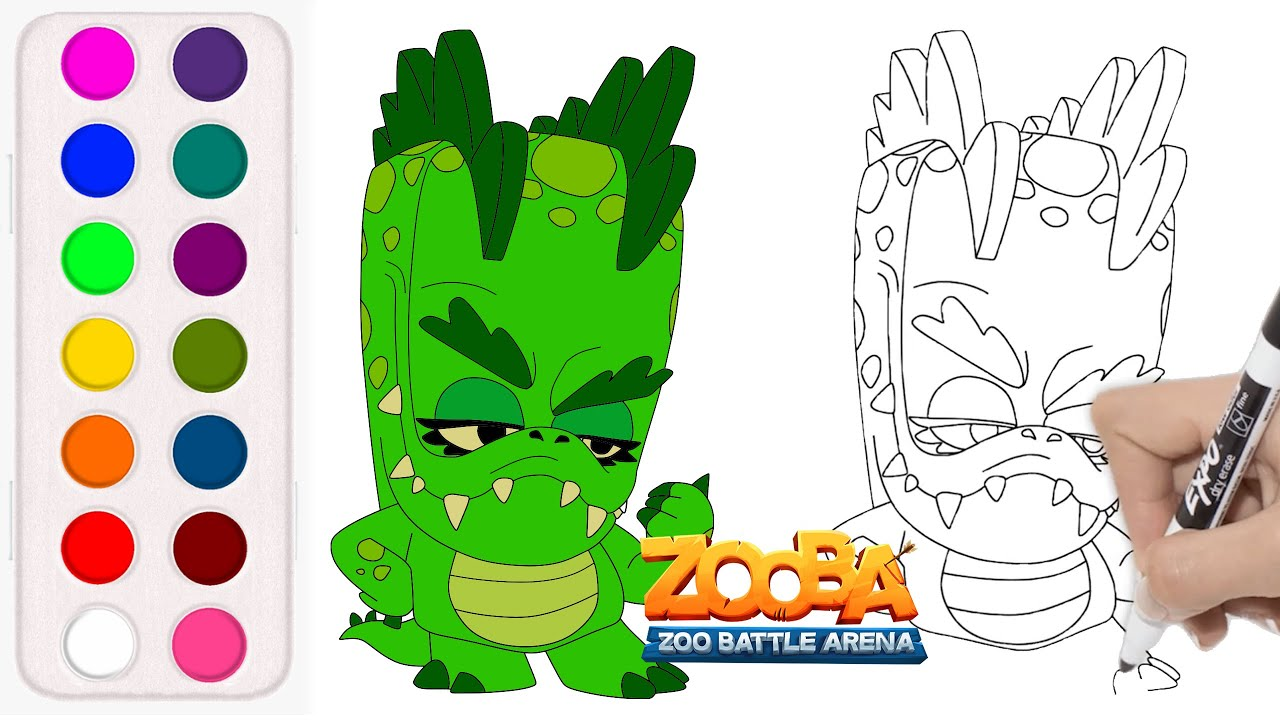 How To Draw Donna The Crocodile From Zooba Zooba Donnathecrocodile Youtube