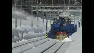 上越線 伝説のグランドクロス 投排雪ロータリー 2013年2月28日