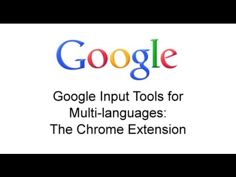 Google Input Tools: Chrome Extension