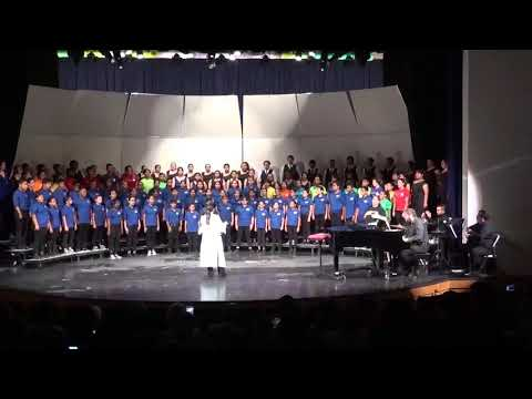 CATHEDRAL CITY HIGH SCHOOL COMBINED CHOIR CONCERT, NOVEMBER 6, 2019.  WITH MICHAEL VELASQUEZ