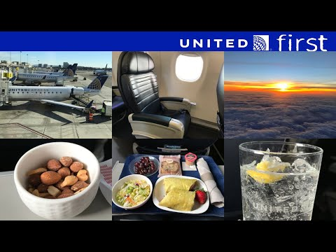 United Express First Class: Los Angeles to Seattle