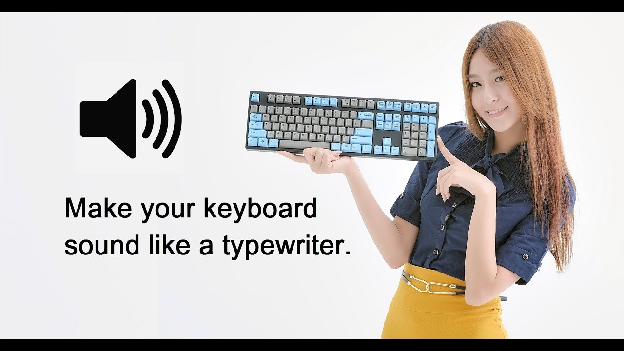 How to make your keyboard sound effect like a typewriter in 60 Seconds