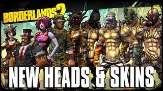Borderlands 2 - New DLC Heads & Skins + Xbox / PC Sale Info