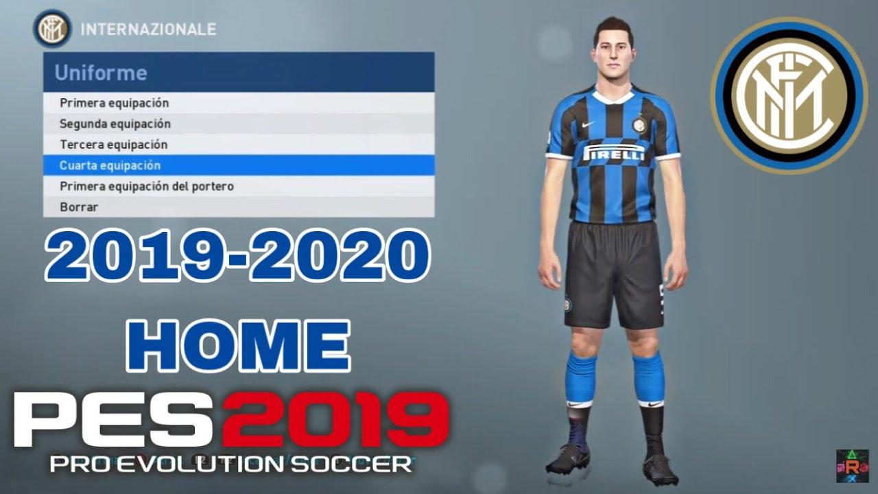 Pes 2019 Kit Inter Milan 2019 2020 Home Iamrubenmg Youtube