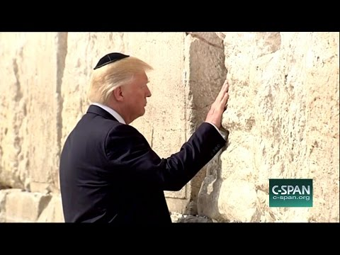 President Trump at the Western Wall (C-SPAN)