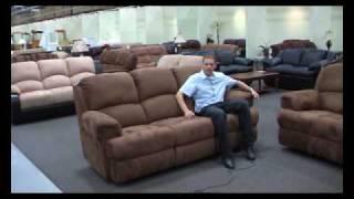 Mocha Motion Microfiber Reclining Sofa Set