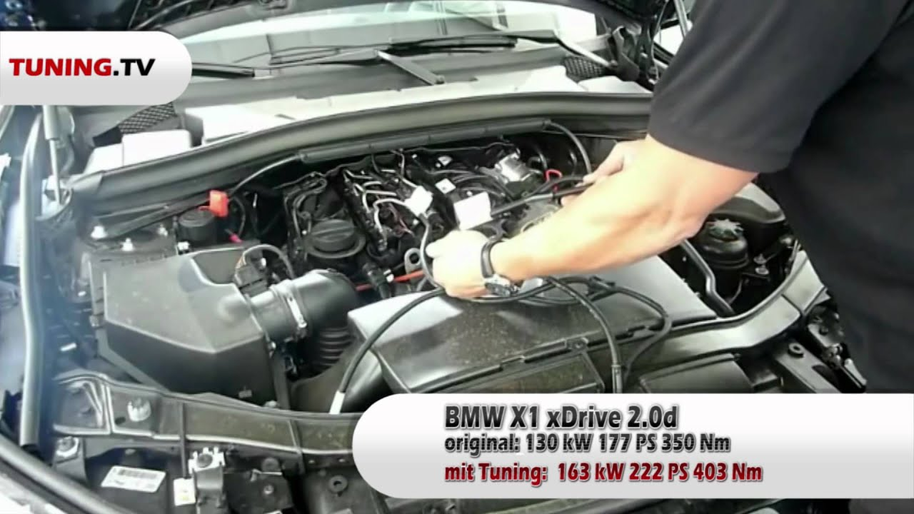 Einbauvideo SPEED BUSTER Chiptuning Box BMW X1 xDrive20d 177PS