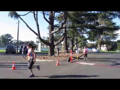 Traralgon finish line - Vanessa + Di - 10km