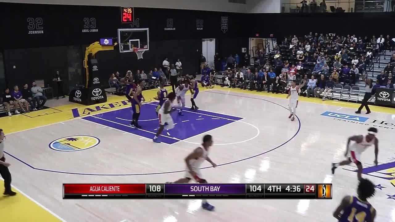 Angel Delgado Posts 15 points & 21 rebounds vs. South Bay Lakers